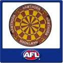 Official Licensed Afl Hawthorn Hawks Dartboard