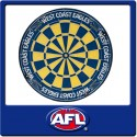Official Licensed Afl West Coast Eagles Dartboard