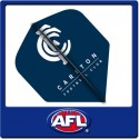 OFFICIAL AFL CARLTON BLUES Dart Dart Flights x 3