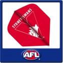 OFFICIAL AFL SYDNEY SWANS Dart Dart Flights X 3