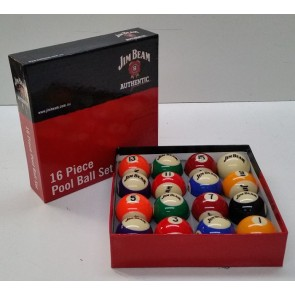 "Official Licensed KELLY POOL BALL Set 2"" - Jim Beam"