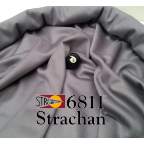 STRACHAN 6811 English Pool Snooker Billiards CLOTH 9ft x 4.6ft - GREY