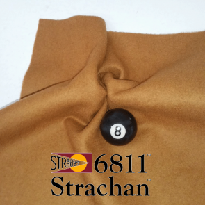 STRACHAN 6811 English Pool Snooker Billiards CLOTH 7ft x 3.6ft - BRONZE