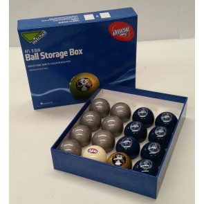 AFL Licensed POOL BALLS - 16 Pack - Carlton BLUES