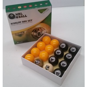 NRL Licensed POOL BALLS - 16 Pack - Penrith PANTHERS