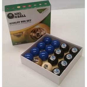 NRL Licensed POOL BALLS - 16 Pack - Cronulla Sutherland SHARKS