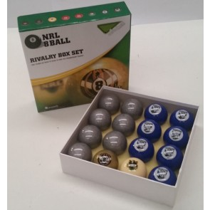 NRL Licensed POOL BALLS - 16 Pack - Canterbury Bankstown BULLDOGS