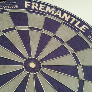 AFL Licensed DARTBOARD - Fremantle DOCKERS
