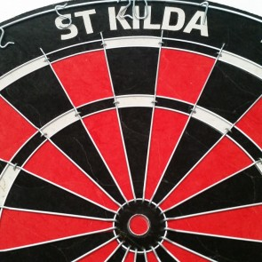 AFL Licensed DARTBOARD - St Kilda SAINTS