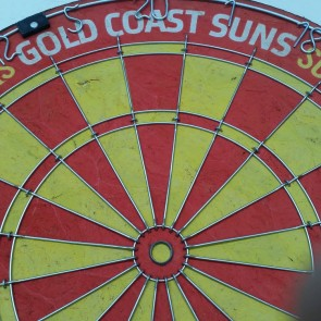 AFL Licensed DARTBOARD - Gold Coast SUNS