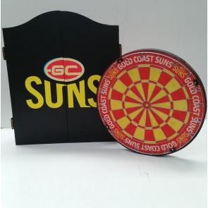 AFL Licensed DARTBOARD PACK - Gold Coast SUNS