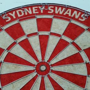 AFL Licensed DARTBOARD - Sydney SWANS