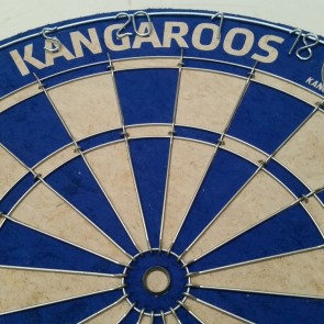 AFL Licensed DARTBOARD - North Melbourne KANGAROOS