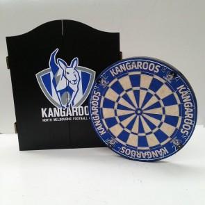 AFL Licensed DARTBOARD PACK - North Melbourne KANGAROOS