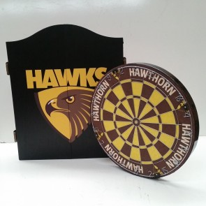 AFL Licensed DARTBOARD PACK - Hawthorn HAWKS