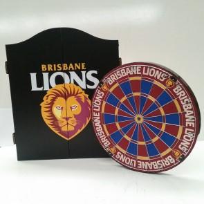 AFL Licensed DARTBOARD PACK - Brisbane LIONS
