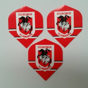 NRL Licensed DART FLIGHTS x 3 - St George Illawarra DRAGONS
