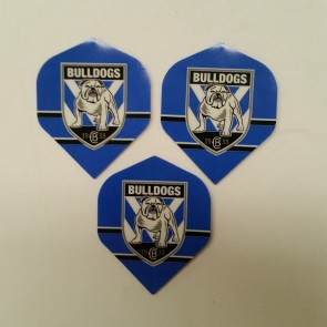 NRL Licensed DART FLIGHTS x 3 - Canterbury Bankstown BULLDOGS