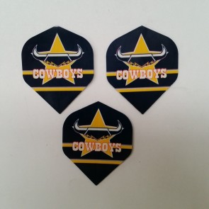 NRL Licensed DART FLIGHTS x 3 - North Queensland COWBOYS