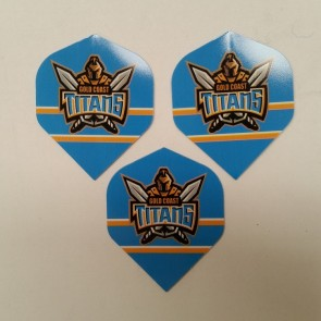 NRL Licensed DART FLIGHTS x 3 - Gold Coast TITANS