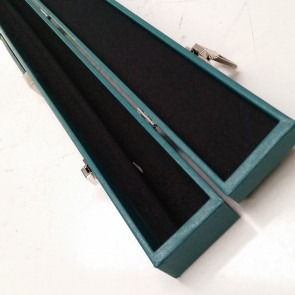 Green Box-style pool cue case