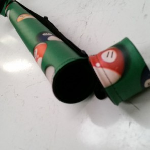 Cue CASE 2 Piece Tube Style - Green
