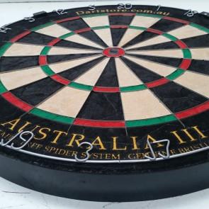 New Australia III Micro-Blade Genuine Bristle Dartboard + Free Darts