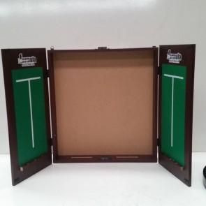 Dartboard CABINET - Mahogany Finish with Soreboards