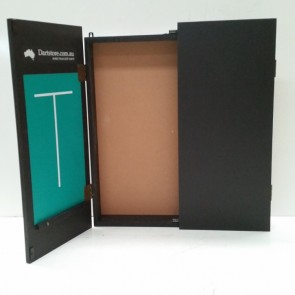 DARTBOARD CABINET - Solid Black Finish