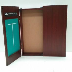Dartboard Cabinet Mahogany Finish