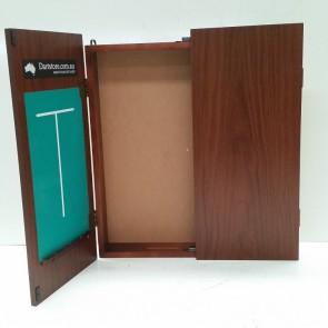 Dartboard Cabinet - Walnut Finish