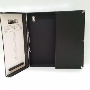 Aluminium Dartboard Cabinet - Black