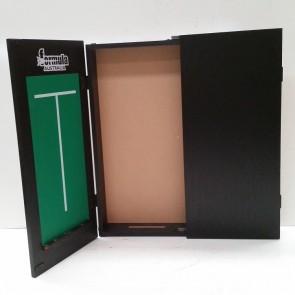 Dartboard CABINET - Black Ash Finish and Scoreboards