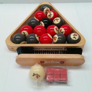 "Jim Beam CASINO POOL BALLS 2"" & Accessories"