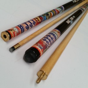"""Hard Core"" MAPLE 2 Pce Pool Snooker Billiards 57"" CUE - England"