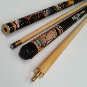 """Hard Core"" MAPLE 2 Pce Pool Snooker Billiards 57"" CUE - Heavy Metal"