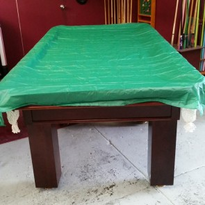 Economic VINYL Pool Snooker Billiards TABLE COVER - 9' - GREEN
