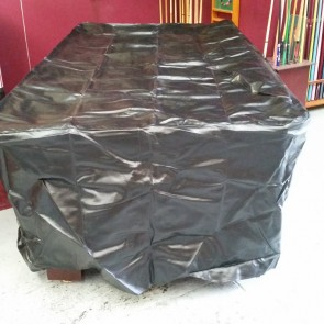 Full Skirt Heavy Duty Black Fitted 7 Foot Pool Table Cover