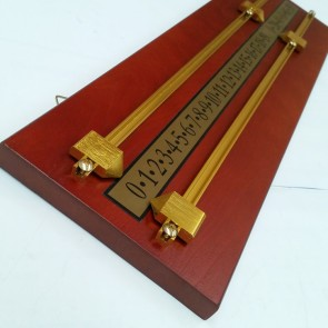 Jarrah Wooden Scoreboard with Brass pointers and Rails