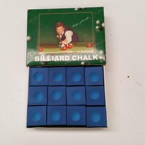 Eddie Charlton Pool Snooker Billiards CUE CHALK - 12 Piece - BLUE
