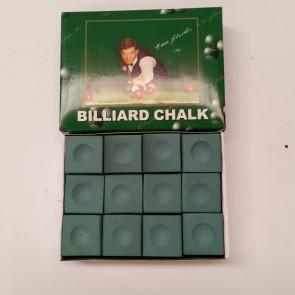 Eddie Charlton Pool Snooker Billiards CUE CHALK - 12 Piece - GREEN