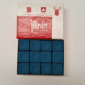 Masters Billiards Pool Snooker CUE CHALK - 12 Pieces - BLUE