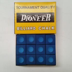 Pioneer Pool Snooker Billiards CUE CHALK - 12 Pieces - BLUE