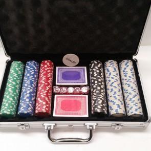 300 Piece POKER GAME Set ALUMINIUM CASE