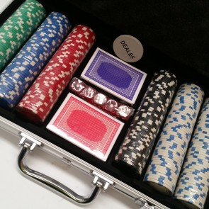300 Piece POKER GAME Set ALUMINIUM CASE with NUMBERED CHIPS