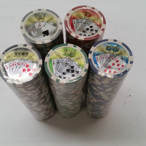 500 Piece POKER GAME Set ALUMINIUM CASE with NUMBERED CHIPS