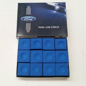 Official Licensed FORD CUE CHALK - 12 Piece - BLUE