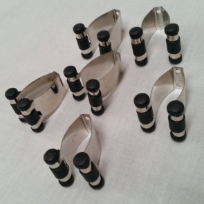 Eddie Charlton CUE RACK Replacement CLIPS (6) - CHROME