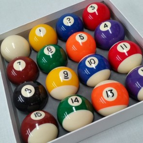 "Eddie Charlton KELLY POOL BALL Set 2"" with 1 7/8"" White Ball"