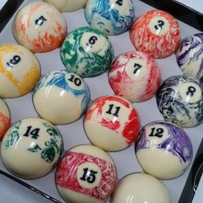 "Standard POOL BALLS 2 1/4"" - MARBLE"